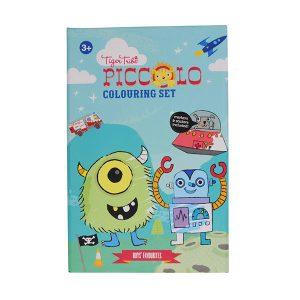Tiger Tribe Piccolo Colouring Set - Boy's Favourites