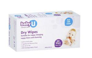baby U dry wipes 100